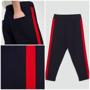 NEW Zara Knit Jogging Trousers with Side Stripe